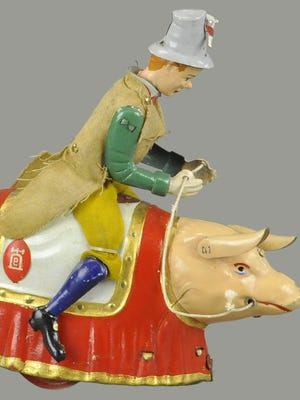 Paddy and the Pig is a caricature found in political cartoons during Victorian times. A toy based on the caricature sold recently for $1,320.