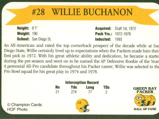 Packers Hall of Fame player Willie Buchanon