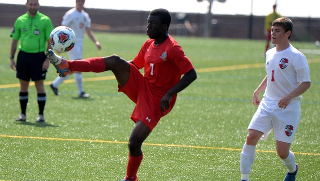 Riverheads' Josh Akinwumi, who scored both of his team's goals Friday in a 4-2 loss to Rappahannock in the Class 1 boys soccer state semifinals, was named to the first team of the VHSL Class 1 all-state boys soccer team.