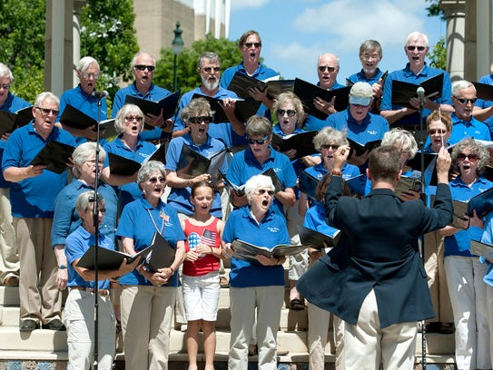 The Reuter Center Singers perform during the Asheville-Buncombe