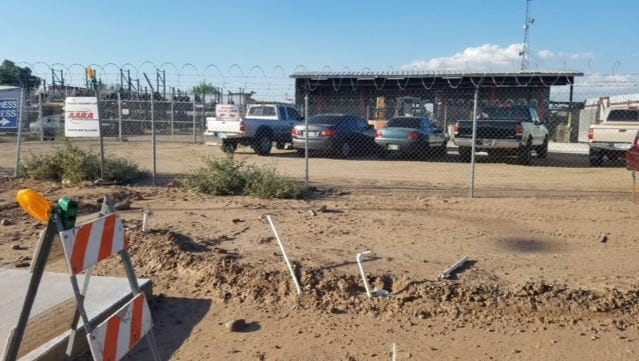 Riteway Auto Parts employees found human remains on the lot near 25th Avenue and Broadway Road in Phoenix on Sept. 21, 2016.