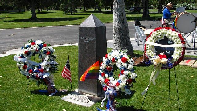 Cathedral City's LGBTQ Veterans Memorial in Desert Memorial Park.