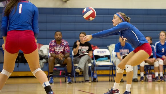 West Henderson volleyball advanced to the 3-A Western