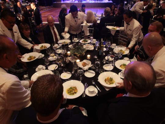 Attendees enjoyed dinner during the United Way of the Desert's Silver Ball Friday.