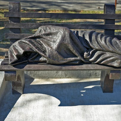 Homeless Jesus statue reminds us of Indy Homelessness