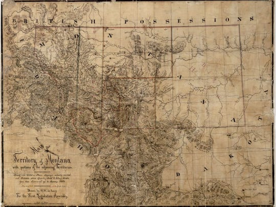 The Montana Historical Society is as old as Montana Territory itself. This first Montana Territorial map showing the first counties created was drawn by W.W. deLacy for the First Territorial Legislature, which also created the Montana Historical Society. It is in the MHS collection.