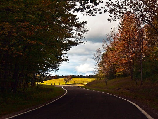 """This """"tunnel of trees"""" runs from Harbor Springs to Cross Village"""