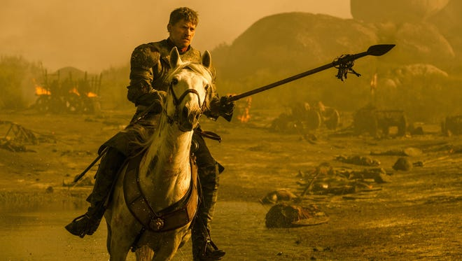 """This image released by HBO shows Nikolaj Coster-Waldau as Jamie Lannister in a scene from """"Game of Thrones."""""""