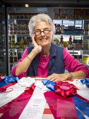 Arlette Hollister, superintendent of the Food Department at the Iowa State Fair for 30 years, is also this year's parade grand marshal.