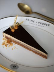Peanut butter pave ($15) from Prime + Proper, a fine-dining steakhouse located at 1145 Griswold in Detroit's Capitol Park neighborhood.