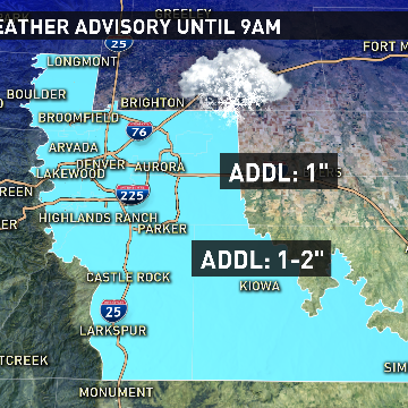 Winter weather advisory extended through 9 a.m.