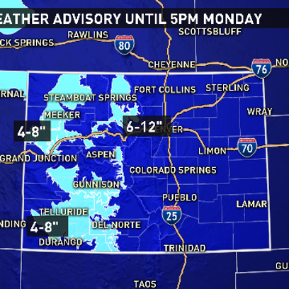 A Winter Weather Advisory is in effect for mountain