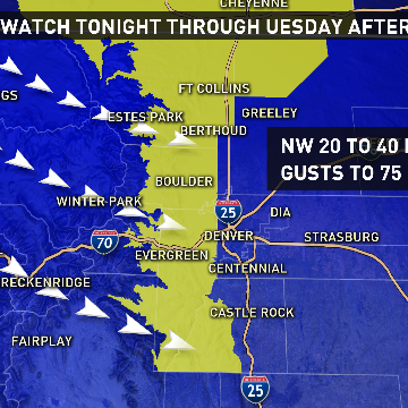 Strong winds expected Monday night and Tuesday