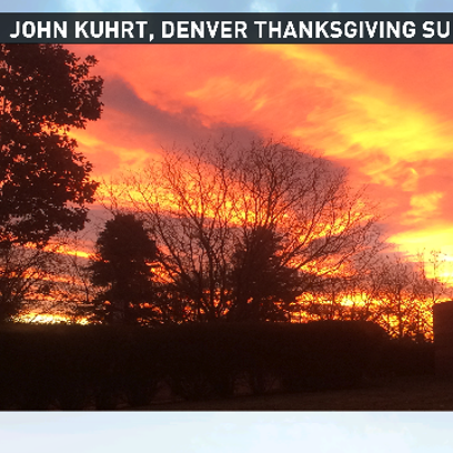 Gorgeous sunrise for Denver and the Front Range