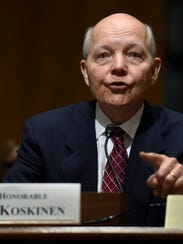 IRS Commissioner John Koskinen testifies about the