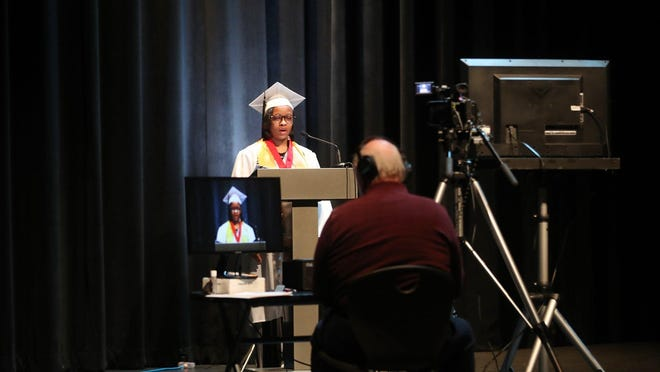 The coronavirus may have ruined their senior year, but Drew Oliver, Buchtel class of 2020 valedictorian, told her classmates in her graduation speech to cherish the memories that they did have.