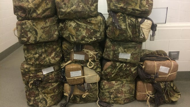 Backpacks full of marijuana were confiscated by Border Patrol agents on Friday morning.
