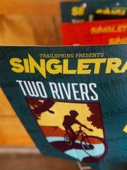 Signs for the Singletrack Mind festival.