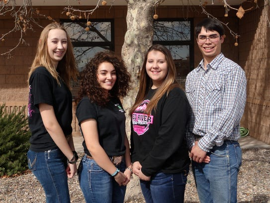 State 4-H ambassadors are, from left, Brianna Chavez