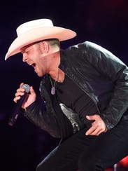 Justin Moore performs at the 2016 CMA Music Festival Friday night at Nissan Stadium in Nashville, Tenn. Larry McCormack / tennessean.com