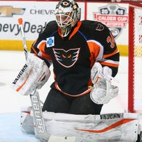 Alex Lyon's 94 saves are AHL history and the NHL may be next for him