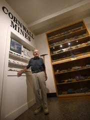 Milan Lipensky, the last Cornwall Mine Superintendent, recently donated a wide variety of minerals to the Lebanon County Historical Society. The collection is displayed at the Historical Society located at 924 Cumberland Street.