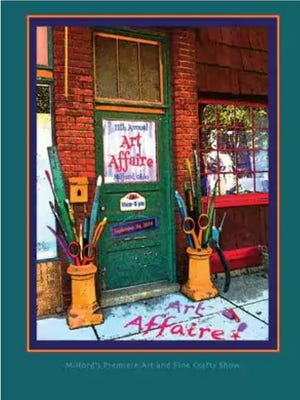 Here's the winning 2016 Art Affaire poster contest design submitted by Anne Huddleston of Madison Place.