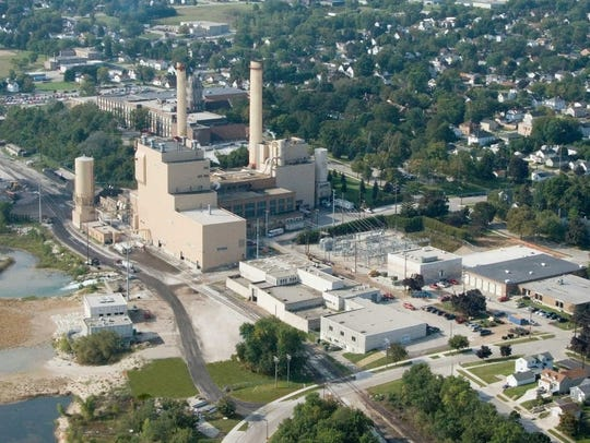 Aerial view of the Manitowoc Public Utilities plant