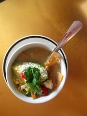 The Mexico City chicken tortilla soup is Ms. Cheap's favorite menu item at Mas Taco.