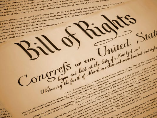 United States Bill of Rights Document Replica