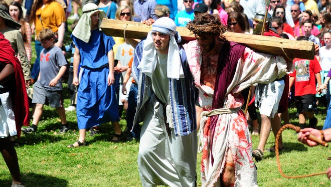The Living Stations of the Cross is a Good Friday tradition.