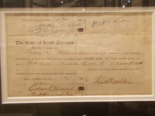 Rare Joe Jackson signature