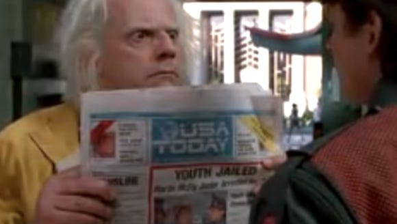 Christopher Lloyd's character displays a future version