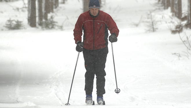 Tim Schwartz of Rib Mountain gets in some cross country skiing at Nine Mile Forest.