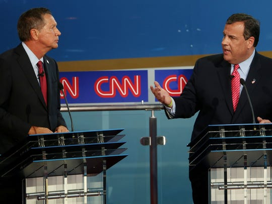 Chris Christie and John Kasich take part in the presidential