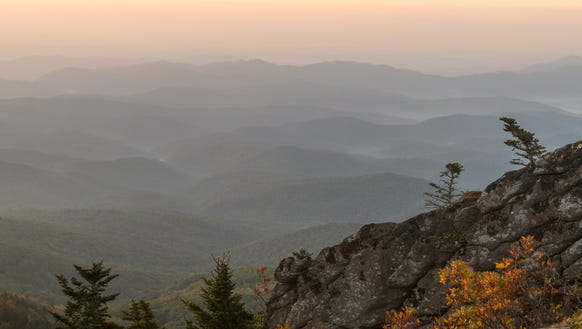 A view from Grandfather Mountain's Top Shop catches
