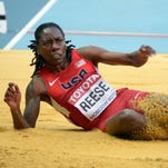 Brittney Reese won the gold medal in the long jump at the 2012 London Olympics.