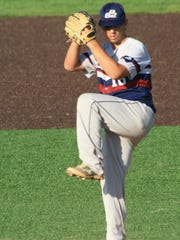 Indian Hills right-hander Josh Cohen pitching for ps2 Academy in September at Villanova.