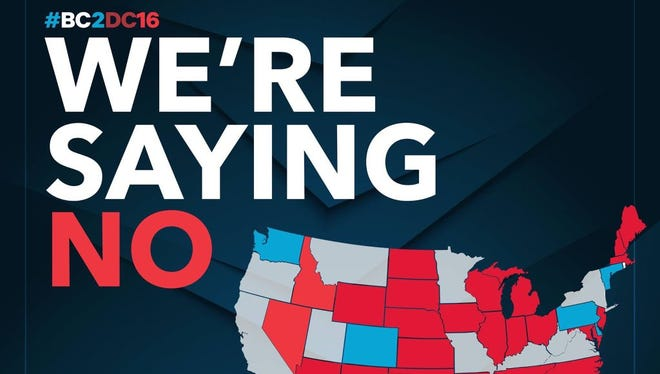 This intended map of the United States was tweeted out by the Ben Carson campaign Tuesday.