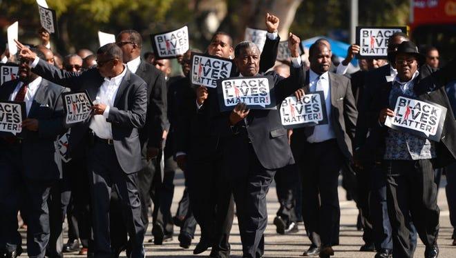 Black Lives Matter march, Jan. 19, 2015, in Los Angeles.