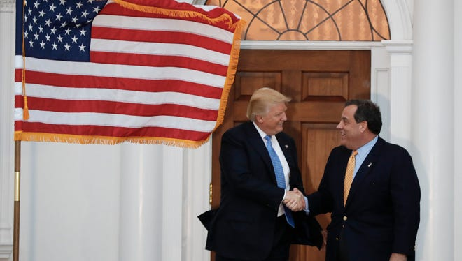 President-elect Donald Trump and Gov. Chris Christie appearing together in November at Trump National Golf Club in Bedminster.