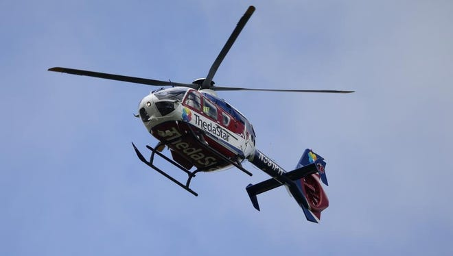 A Fond du Lac girl. was airlifted to a Neenah hospital with serious injuries following a farm accident in the town of Empire.