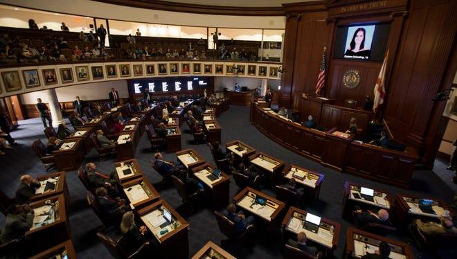The Florida Senate chamber in Tallahassee.