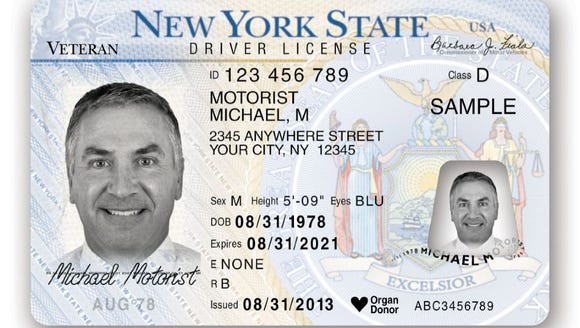veterans can get their status on ny licenses