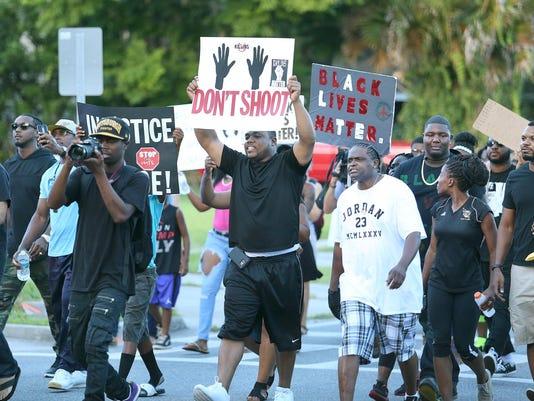 Black Lives Matter march in Sanford, Fla.