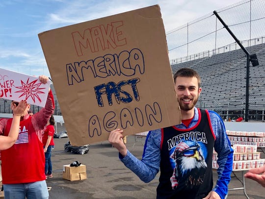 The Indianapolis Motor Speedway is too yuge for us to make America fast again.