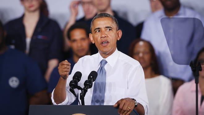 President Obama on Jan. 30 in Wisconsin.