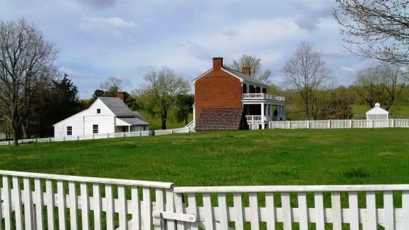 Looking toward the rebuilt McLean house.
