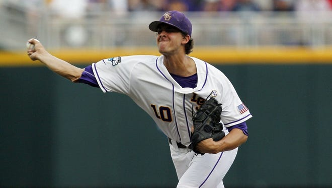LSU pitcher Aaron Nola led the SEC this season in strikeouts, ERA, innings pitched and opponent batting average (.172), and he is No. 2 in the nation in strikeouts.