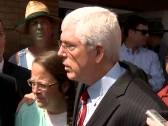 Kim Davis, with Liberty Counsel attorney Mat Staver.